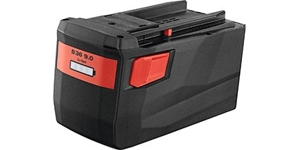 Hilti 36 volt range of batteries