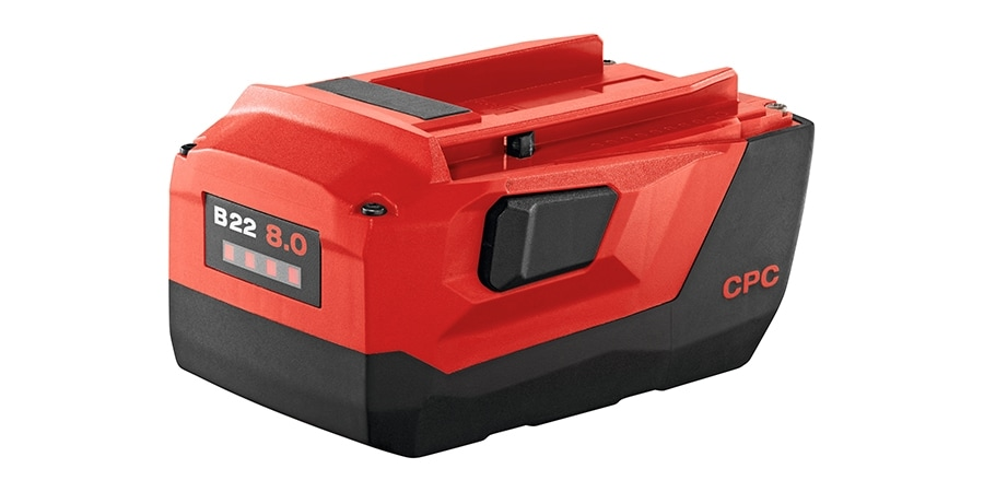 Hilti 22 volt range of batteries