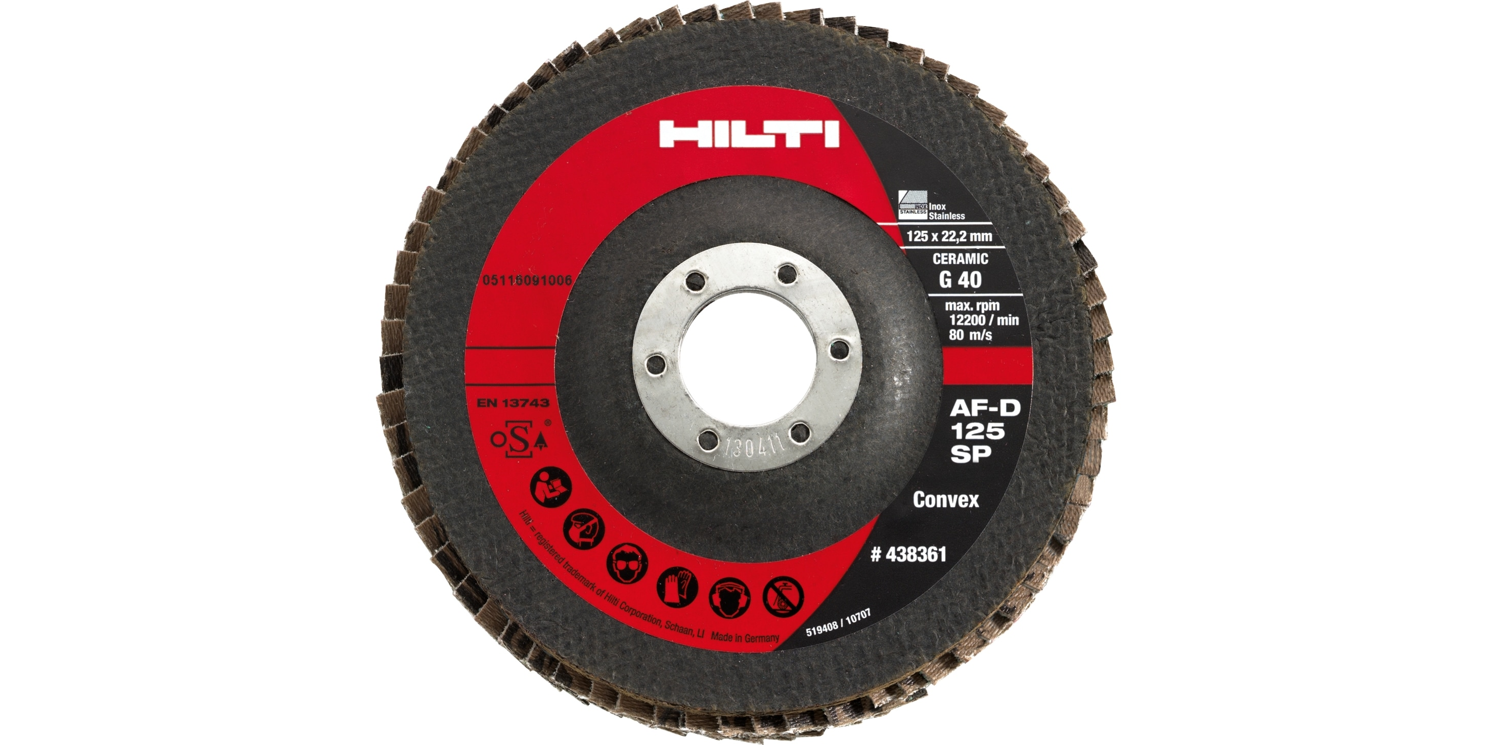 Ultimate flap disc with cooling coating for light grinding on stainless steel