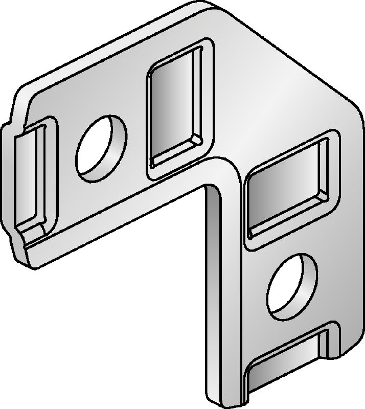 MM-AF-90 Galvanised 90-degree flat angle for connecting multiple MM strut channels