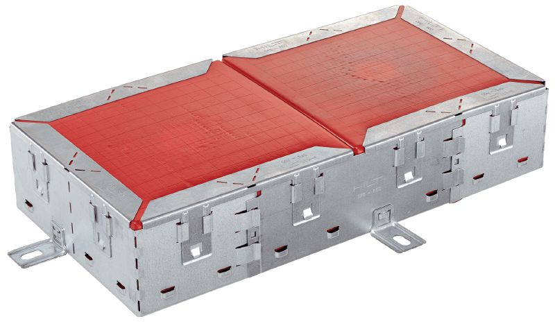 CFS-RCC Firestop rectangular cable collar Solution for renovation of sealed cable-, tray- and mixed penetrations without removing existing, old firestop