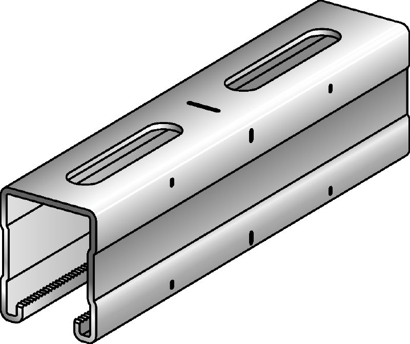 MQ-52 Galvanised 52 mm high MQ strut channel for medium-duty applications