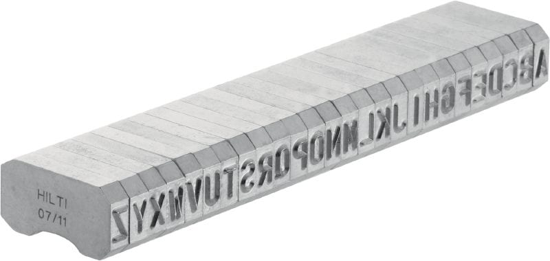 X-MC S 5.6/6 Sharp-tipped, narrow letter and number characters for stamping identification markings onto metal