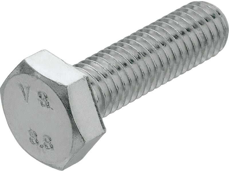 A2 hexagon screw DIN 933 Stainless steel (A2) hexagon screw corresponding to DIN 933