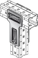 MIC-T Hot-dip galvanised (HDG) connector for fastening MI girders perpendicularly to one another Applications 1