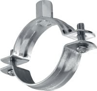 MPN-R Standard stainless pipe clamp without sound inlay for medium-duty applications