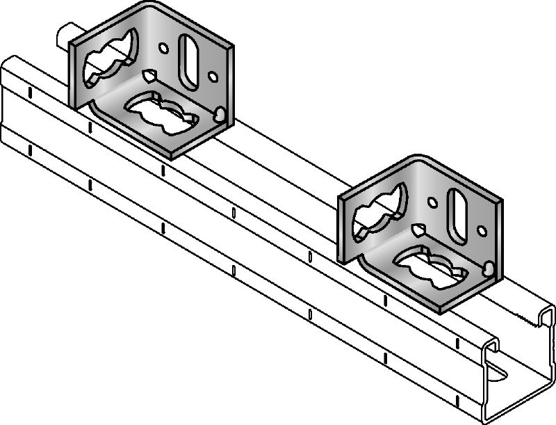 MQP-2/1 Galvanised channel foot for fastening channels to various base materials