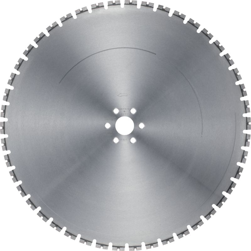 SPX MCS Equidist Wall Saw Blade - Silent (60H: fits on Hilti and Husqvarna®) Ultimate wall saw blade (15 kW) for high speed, a longer lifetime and noise reduction (60H arbor)