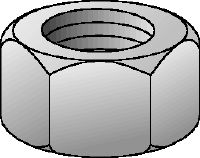 HDG grade 8 hexagon nut DIN 934 Hot-dip galvanised (HDG) grade 8 hexagon nut corresponding to DIN 934
