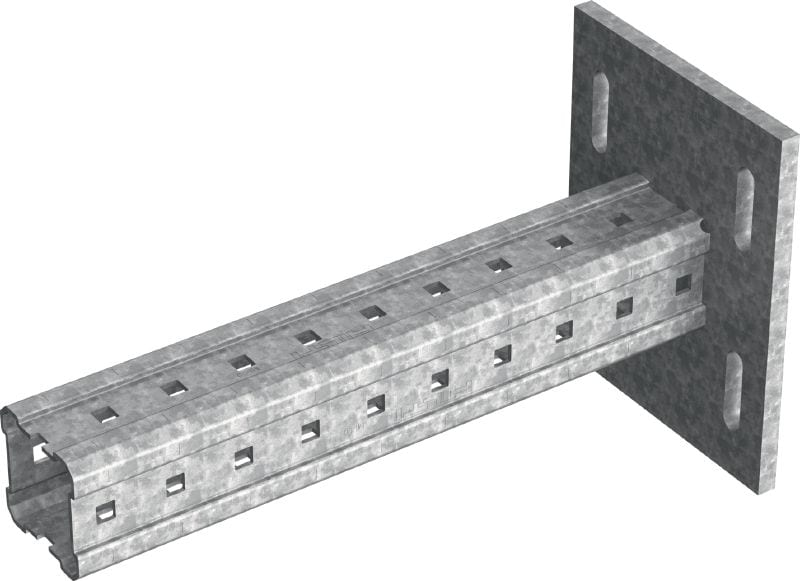 MIC-S90H Hot-dip galvanised (HDG) bracket for heavy-duty connections to steel