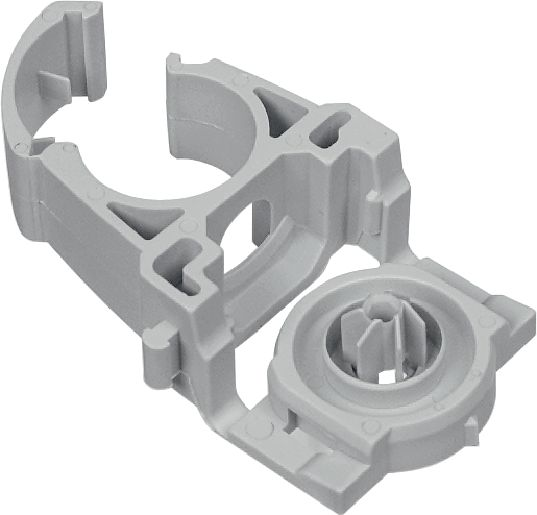 X-EKSC MX - Cable / conduit clamp Plastic cable/conduit clamp with clip-in design and snap-lock for use with collated nails