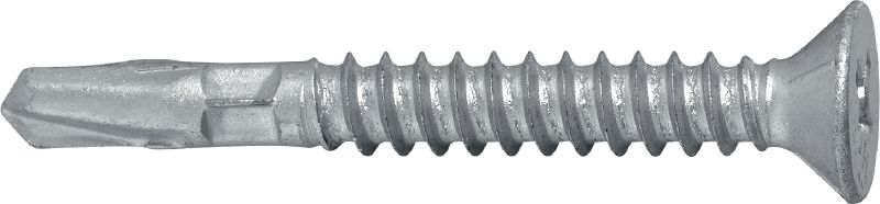 S-WD 13 C Single exterior wing-tip wood screw (coated) for fastening wood to medium steel structures