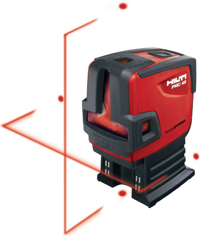 PMC 46 Plumb and line laser Combi-laser with 2 lines and 4 points for plumbing, levelling, aligning and squaring with red beam