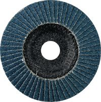 AF-D Flap discs - SP Premium Premium fibre-backed convex flap discs for rough to fine grinding of stainless steel, steel and other metals