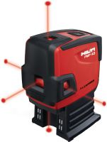 PMP 45 Point laser with 5 points for plumbing, levelling, aligning and squaring with red beam