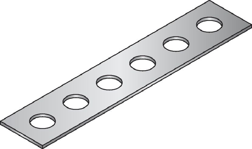 LB Galvanised perforated bands used in various applications