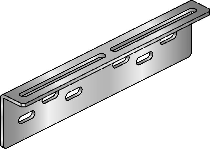 MIC-UB Hot-dip galvanised (HDG) connector for fastening U-bolts to MI girders with greater adjustability