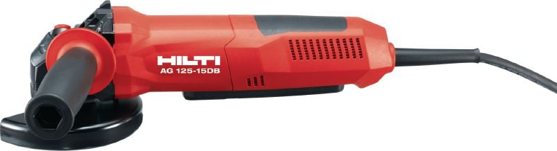 AG 125-15DB Angle grinder 1500W angle grinder with dead man's switch and brake for maximum safety, for discs up to 125 mm
