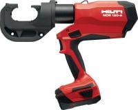 NCR 120-A pistol-grip 12T crimper Pistol-grip 12T cordless crimper with crimping capacity up to 750 MCM (400 mm²)