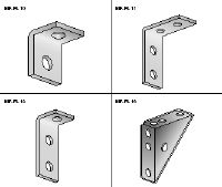 MF-FL Standard hot-dip galvanised (HDG) angle for many common strut connections