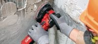 DGH 130 Concrete grinder for light-duty grinding and finishing of wall surfaces Applications 3
